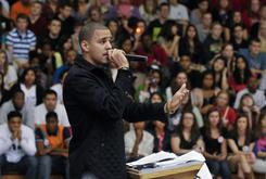 J. Cole Returns To Hometown, Speaks To Students