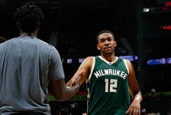 "Jabari Parker Debuts ""Cream"" Air Jordan 11s During Bucks Media Day"