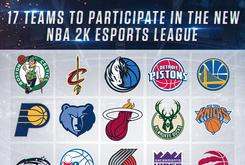 NBA 2K eSports League Announces 17 NBA Teams Will Participate In Inaugural Season