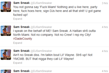 MMG's DJ Sam Sneak Disses Lil Wayne For Miami Rant