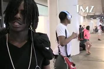 "Chief Keef ""Flexes & Flashes Stacks At LAX"" Video"