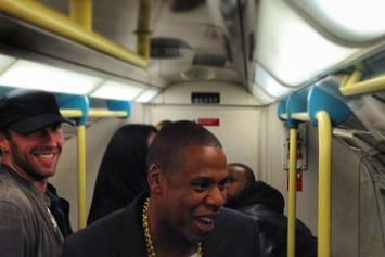 Jay Z, Timbaland, & Chris Martin Took The London Subway To Their Latest Gig