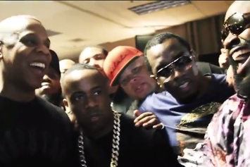 Rick Ross Performs With Jay Z & Takes Us Backstage