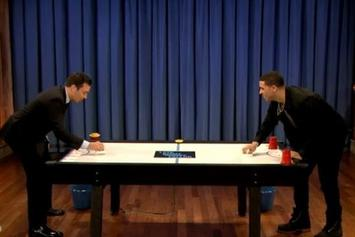 Drake Plays Beer Hockey With Jimmy Fallon