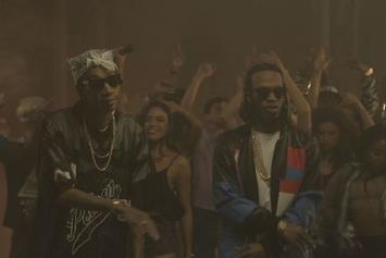 "BTS Of Juicy J & Wiz Khalifa's ""Talkin Bout"" Video"