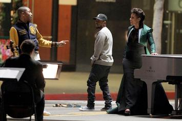 "BTS Photos: Alicia Keys, Kendrick Lamar, & Pharrell's ""It's On Again"" Video"