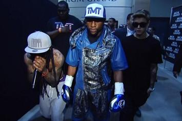 Lil Wayne Attempts To Fight Marcos Maidana's Trainer After Floyd Mayweather Fight
