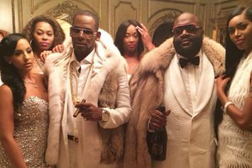"BTS Photos: Rick Ross & R. Kelly's ""Keep Doing That (Rich Chick)"" Video Shoot"