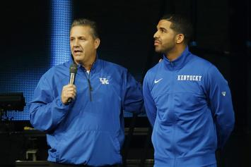 Drake Shows Up To Kentucky Wildcats' Big Blue Madness Event; Shoots Air Ball