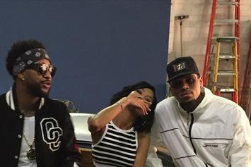 "BTS Photos: Omarion, Chris Brown, & Jhene Aiko's ""Post To Be"" Video"