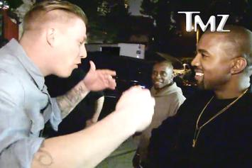 Kanye West Listens To A Fan's Bars In L.A.