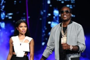"Meek Mill, Nicki Minaj & Chris Brown Perform ""All Eyes On You"" At BET Awards"