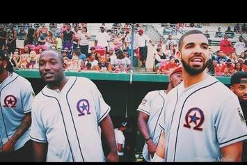 Drake & Hannibal Buress Rep Team OVO In HAW Softball Game