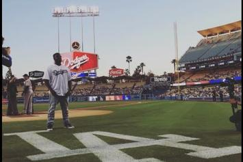 T-Pain Sings The National Anthem At LA Dodgers Game