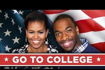 "Michelle Obama Drops Bars In Rap Video ""Go To College"""