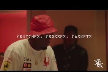 """Pusha T & Diddy In The """"Crutches, Crosses, Caskets"""" Studio Session"""