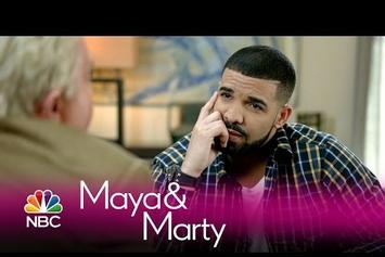"Drake Interviewed By Jiminy Glick on ""Maya & Marty"""