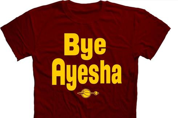 "Cavaliers Fans Are Going Crazy For These ""Bye Ayesha"" Shirts"
