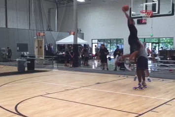 Shaq Lets His Son Dunk On Him To Teach A Lesson On Finishing Through Contact