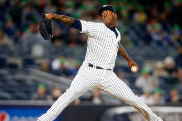 Aroldis Chapman Tied The MLB Record With A 105.1 MPH Fastball