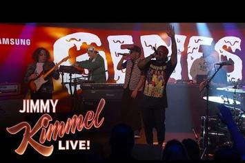 "Domo Genesis & Anderson .Paak Perform ""Dapper"" On Kimmel"