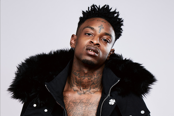 "21 Savage Stars In Virgil Abloh's Off-White ""Don't Cut Me Off"" Lookbook"