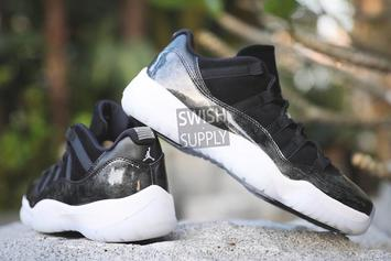 """Barons"" Air Jordan 11 Low Revealed In Detail"