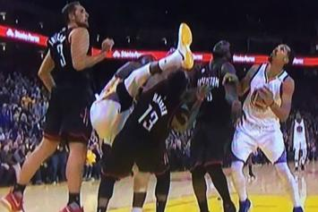 Watch Draymond Green Karate Kick James Harden In The Head