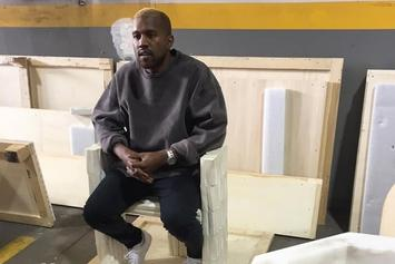 Kanye West Spotted In Public Rocking Blonde Hair
