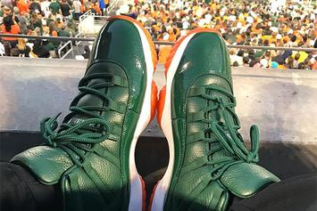 "Andre Johnson Unveils ""Miami Hurricanes"" Air Jordan 11 PE"