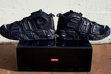 First Photos Leak Of The Supreme x Nike Air More Uptempo