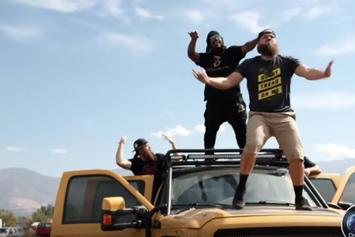 Watch Marshawn Lynch Ghost Ride A Monster Truck And Crush A Jeep Wrangler