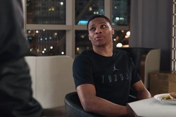 "Russell Westbrook Stars In New Foot Locker ""Stats"" Commercial"