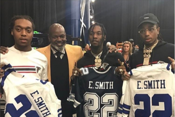 "Migos Performed ""Emmitt Smith"" For Emmitt Smith In Houston"