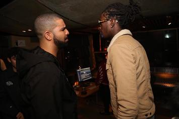 Drake Gives Young Thug Diamond-Studded YSL Chain