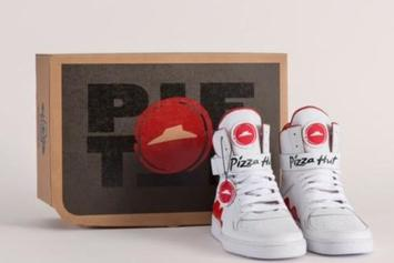 "Pizza Hut Creates ""Pie Top"" Sneakers That Order Food When You Pump The Tongue"