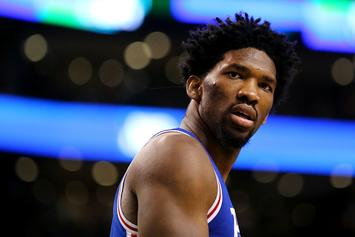 "Joel Embiid To Rihanna: ""I Love You, Hit Me Up"""