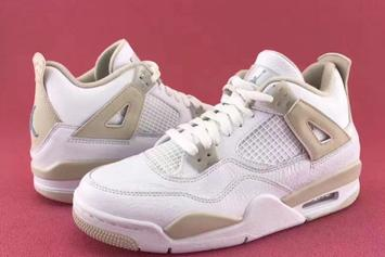 """Linen"" Air Jordan 4s To Release Up To A Size 9.5"