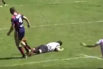 Rugby Player Knocks Ref TF Out After Getting Kicked Out Of Game