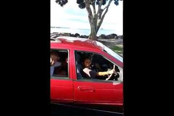 A Bunch Of 8 Year Olds Drive A Car With A Goat Inside