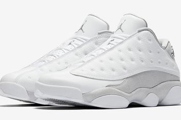 "Air Jordan 13 Low ""Pure Platinum"" Official Images, Release Details Revealed"