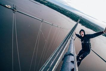 Brave Or Crazy? Daredevils Climb The Tallest Bridge In England