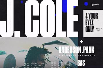 "J. Cole Adds Anderson.Paak to Second Leg of ""4 Your Eyez Only"" Tour"