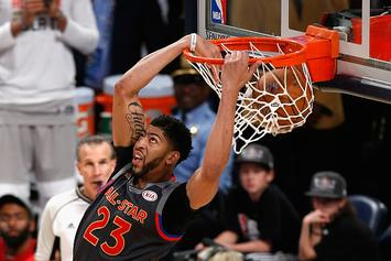 """Anthony Davis Gets In On The """"Drive-By Dunk"""" Challenge"""