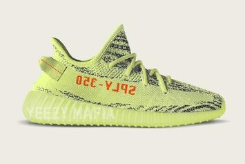 """""""Semi-Frozen Yellow"""" Adidas Yeezy Boost 350 V2 Images Surface"""