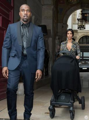Kanye, Kim and North West head to brunch with Valentino