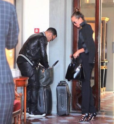 John Legend and Chrissy Teigen arrive in Florence