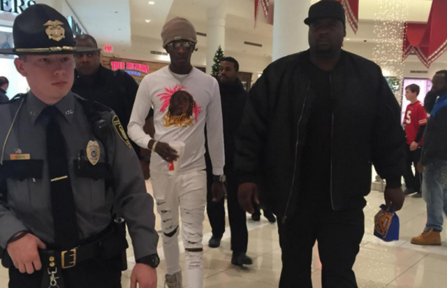 Young Thug in YSL clothing