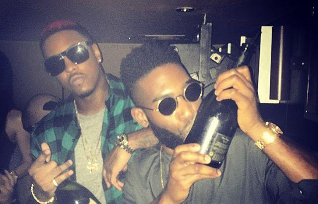 Jeremih with a bottle in the club