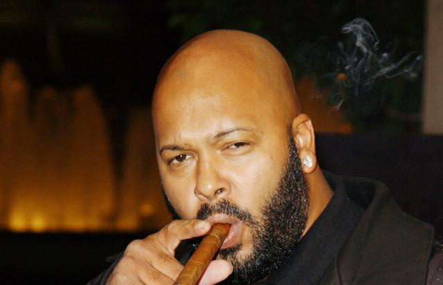 Music producer Suge Knight attends the Los Angeles premiere of 'Half Past Dead' at Loews Century Plaza Cinema on November 7, 2002 in Century City, California. The film opens in theaters nation wide on Friday November 15, 2002.